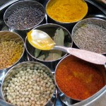 Indian food spice box