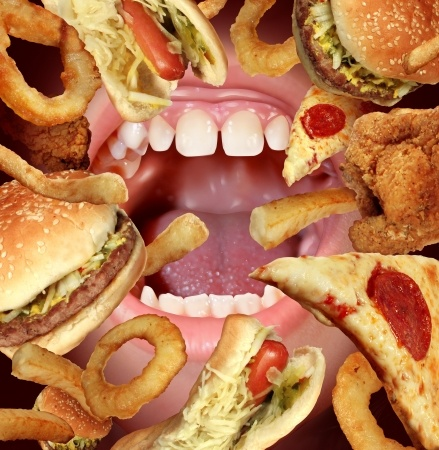 mouth-eating-junk-food